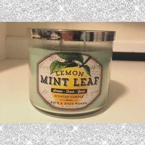 BBW Lemon Mint Leaf Candle